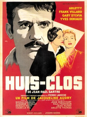 Huis clos - French Movie Poster (thumbnail)