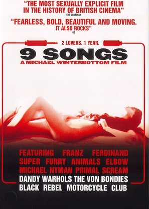 9 Songs - DVD movie cover (thumbnail)