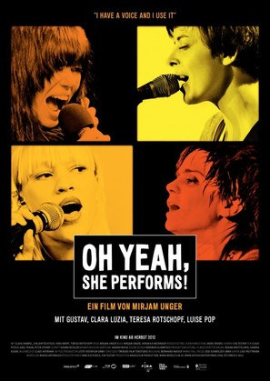 Oh Yeah, She Performs! - German Movie Poster (thumbnail)