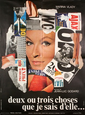 2 ou 3 choses que je sais d'elle - French Movie Poster (thumbnail)