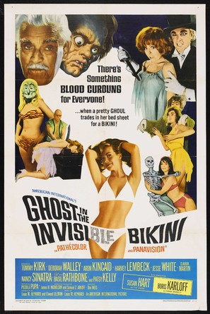 The Ghost in the Invisible Bikini - Theatrical movie poster (thumbnail)