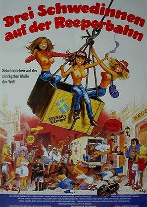 Drei Schwedinnen auf der Reeperbahn - German Movie Poster (thumbnail)