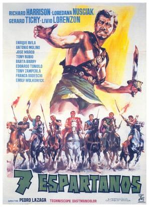Siete espartanos, Los - Spanish Movie Poster (thumbnail)