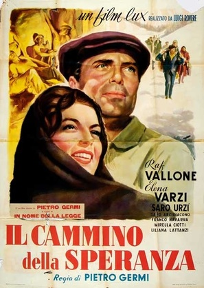 Cammino della speranza, Il - Italian Movie Poster (thumbnail)