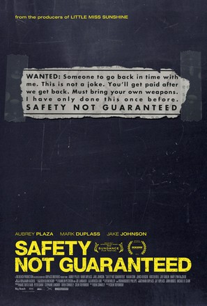 Safety Not Guaranteed - Movie Poster (thumbnail)
