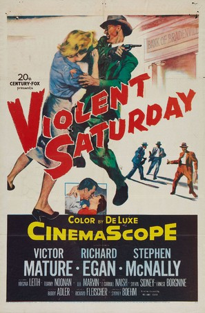 Violent Saturday - Movie Poster (thumbnail)