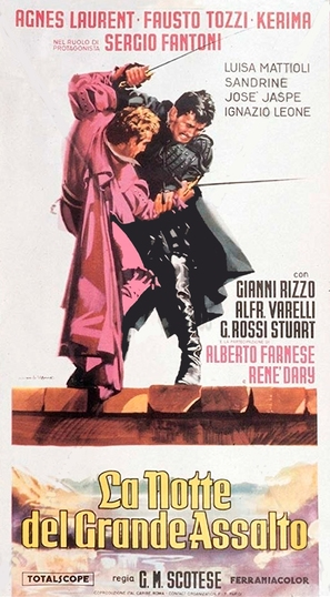 La notte del grande assalto - Italian Movie Poster (thumbnail)