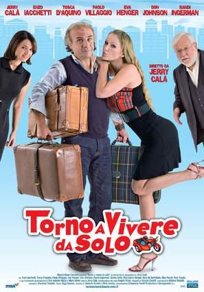 Torno a vivere da solo - Italian Movie Poster (thumbnail)