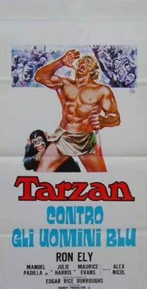 Tarzan and the Four O'Clock Army - Italian Movie Poster (thumbnail)