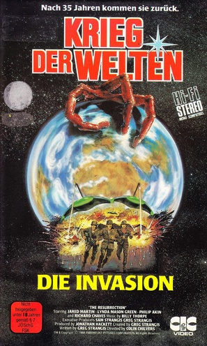 """""""War of the Worlds"""" - German VHS movie cover (thumbnail)"""