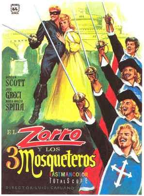 Zorro e i tre moschiettieri - Spanish Movie Poster (thumbnail)
