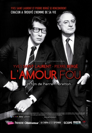 Yves Saint Laurent - L'amour fou - French Movie Poster (thumbnail)