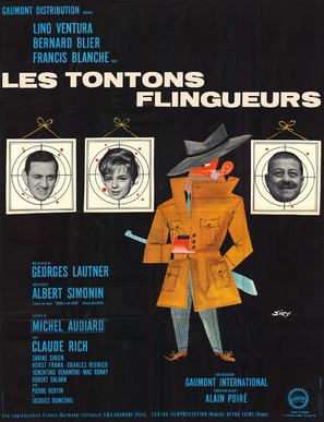 Les tontons flingueurs - French Movie Poster (thumbnail)