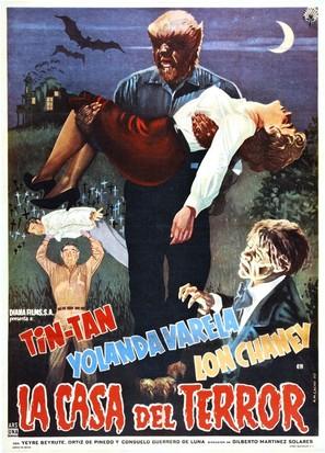 La casa del terror - Mexican Movie Poster (thumbnail)