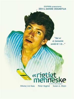 Et rigtigt menneske - Danish Movie Poster (thumbnail)