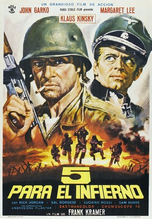 5 per l'inferno - Spanish Movie Poster (thumbnail)