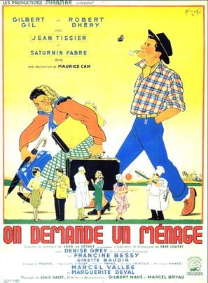 On demande un ménage - French Movie Poster (thumbnail)