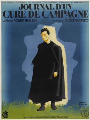 Journal d'un curé de campagne - French Movie Poster (thumbnail)