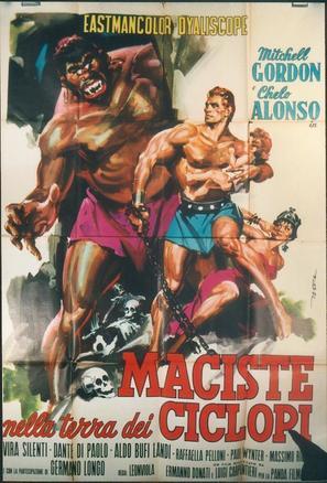 Maciste nella terra dei ciclopi - Italian Movie Poster (thumbnail)