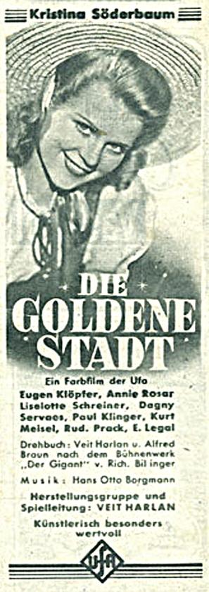 Goldene Stadt, Die - German poster (thumbnail)
