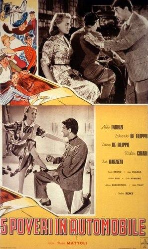 Cinque poveri in automobile - Italian Movie Poster (thumbnail)