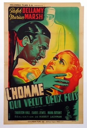The Man Who Lived Twice - French Movie Poster (thumbnail)