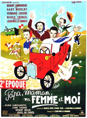 Papa, maman, ma femme et moi... - French Movie Poster (thumbnail)