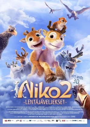 Niko 2: Lentäjäveljekset - Finnish Movie Poster (thumbnail)