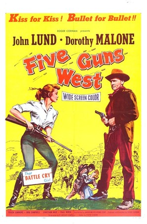 Five Guns West - Movie Poster (thumbnail)