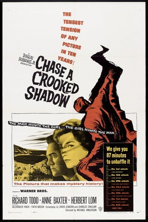 Chase a Crooked Shadow - Theatrical poster (thumbnail)