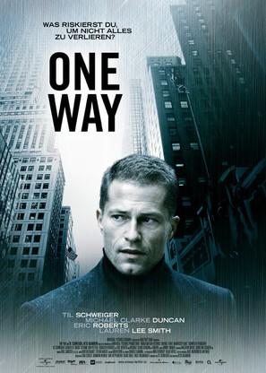 One Way - German poster (thumbnail)
