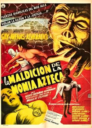 La maldición de la momia azteca - Mexican Movie Poster (thumbnail)