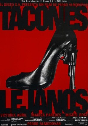 Tacones lejanos - Spanish Movie Poster (thumbnail)