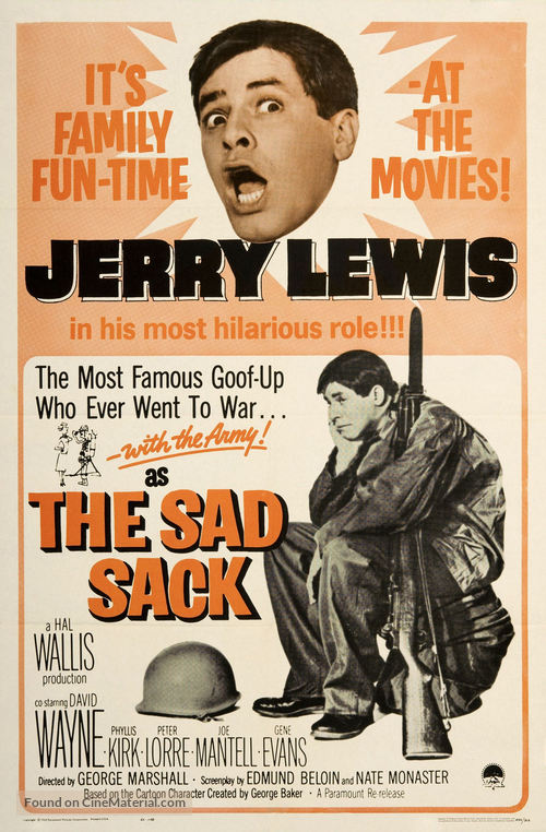 The Sad Sack - Re-release poster