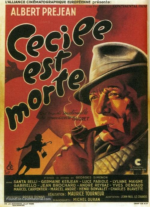 Cècile est morte! - French Movie Poster