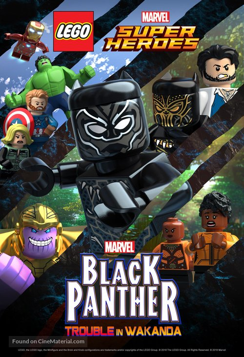 Lego Marvel Super Heroes Black Panther Trouble In Wakanda Dvd Cover