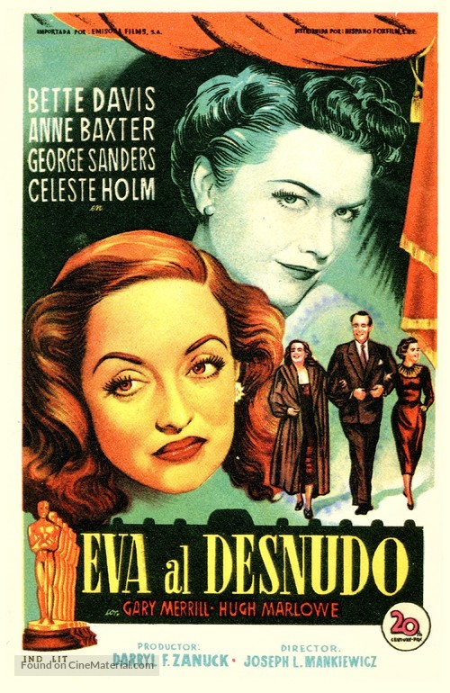 All About Eve - Spanish Movie Poster