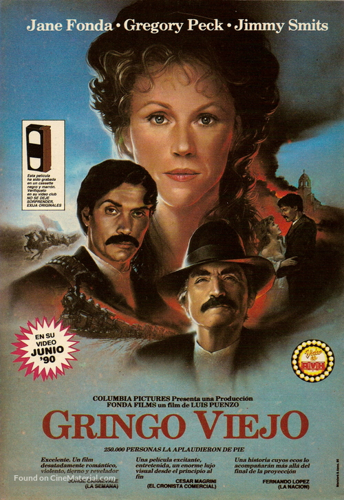 old gringo argentinian video release poster