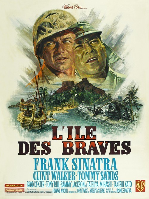 None But the Brave - French Movie Poster
