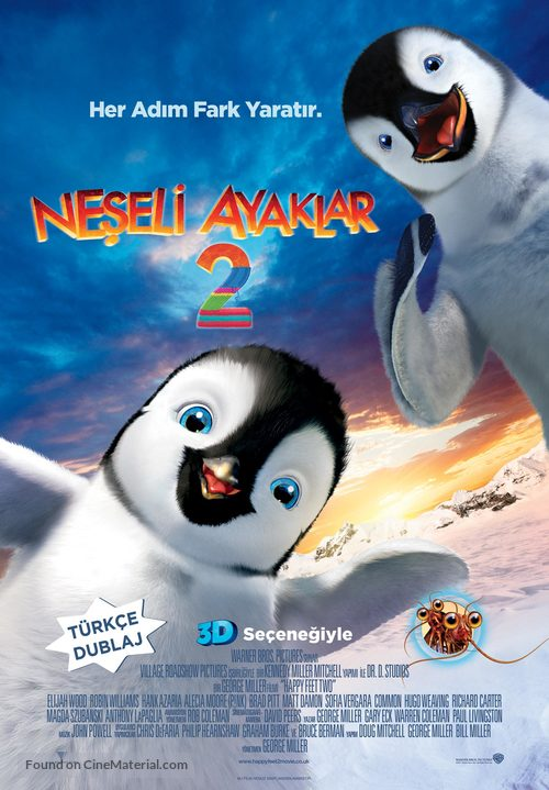 Happy Feet Two - Turkish Movie Poster