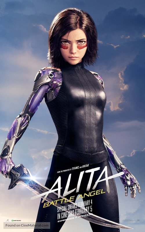 Alita: Battle Angel - Singaporean Movie Poster