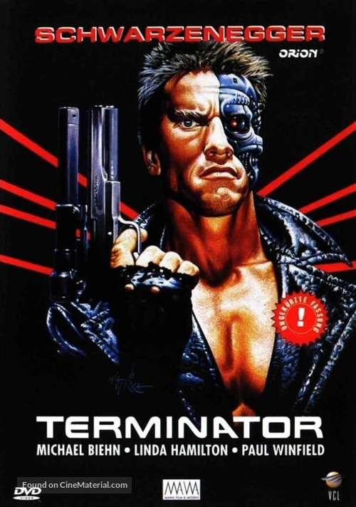 The Terminator - German DVD cover