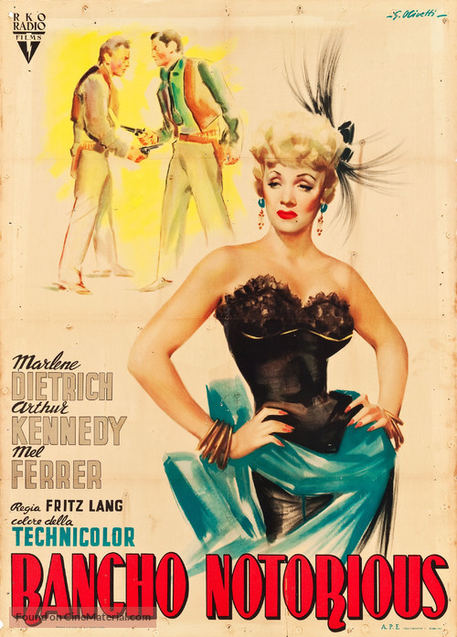 Rancho Notorious - Italian Movie Poster