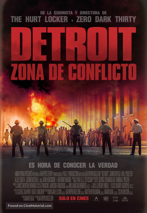 Detroit - Argentinian Movie Poster