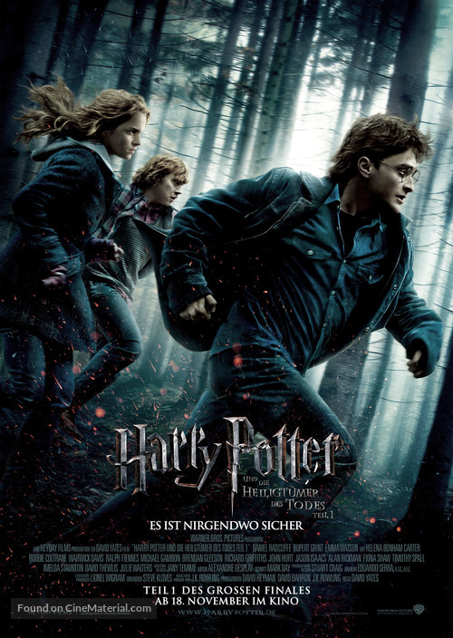 Harry Potter and the Deathly Hallows: Part I - German Movie Poster
