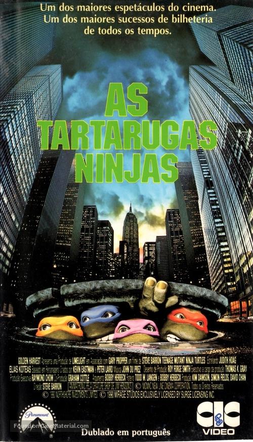 Teenage Mutant Ninja Turtles - Brazilian VHS cover