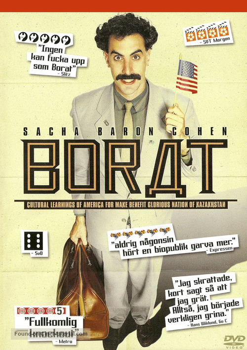 Borat: Cultural Learnings of America for Make Benefit Glorious Nation of Kazakhstan - Swedish DVD cover