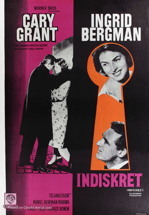 Indiscreet - Swedish Movie Poster