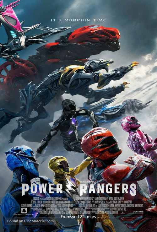 Power Rangers - Icelandic Movie Poster