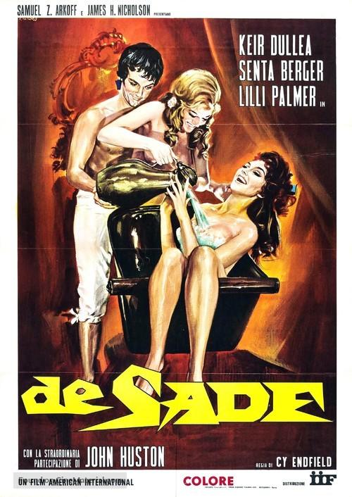De Sade - Italian Movie Poster